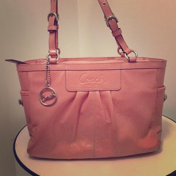 4813b778ab Coach Handbags - CLOSET CLOSING 8 1- COACH Peach Patent Leather Bag